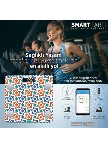 Polo Smart Psc04 Dolmabahçe Yağ Ölçer Akıllı Bluetooth Tartı Baskül Renkli